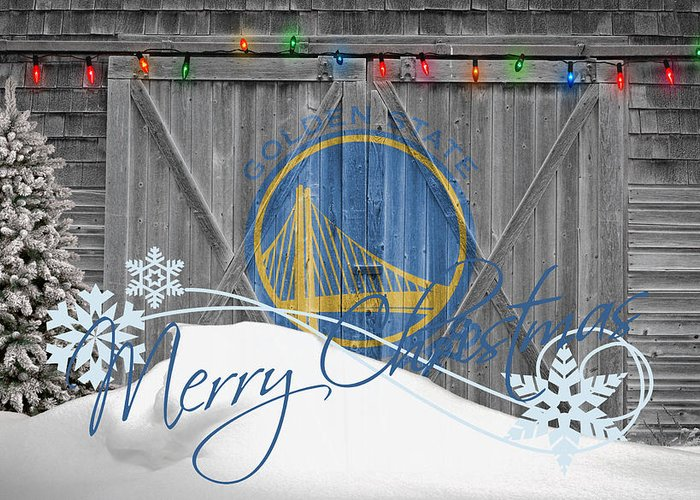 Warriors Greeting Card featuring the photograph Golden State Warriors by Joe Hamilton