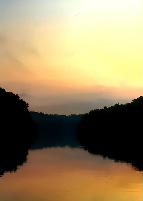 Apalachicola River Greeting Card featuring the photograph Golden Sunrise by Debra Forand
