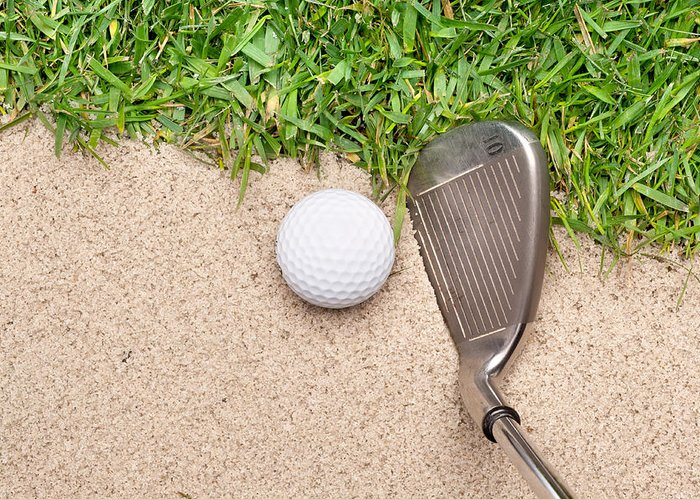 Golf Greeting Card featuring the photograph Golf Club And Ball by Joe Belanger