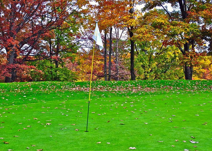 Golf Greeting Card featuring the photograph Golf My Way by Frozen in Time Fine Art Photography
