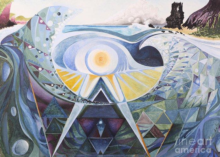 Landscape Greeting Card featuring the painting Golfinhonda by Aaron Joslin