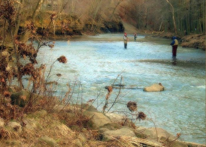 Fishing Greeting Card featuring the photograph Gone Fishing by Wendy Gertz