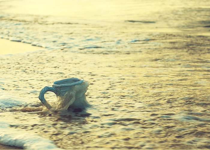 Coffee Cup Greeting Card featuring the photograph Good Morning Beach Bum by Sarah Rentrop