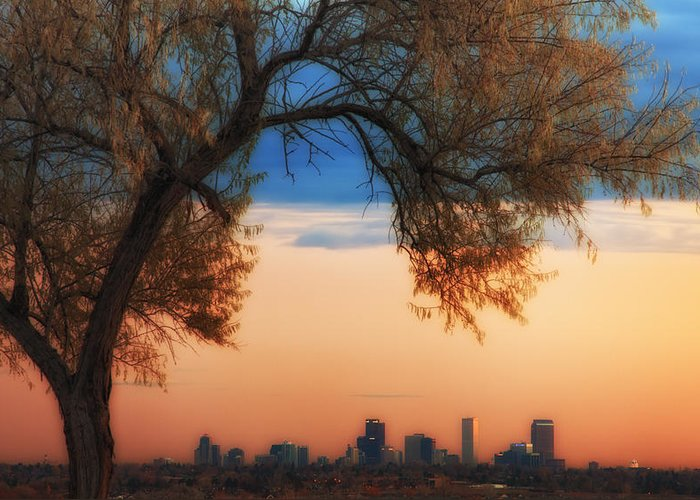 Denver Greeting Card featuring the photograph Good Morning Denver by Darren White
