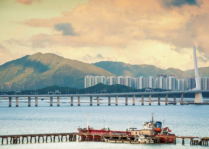 Outdoors Greeting Card featuring the photograph Good Morning Shenzhen & Hong Kong by Capturing A Second In Life, Copyright Leonardo Correa Luna