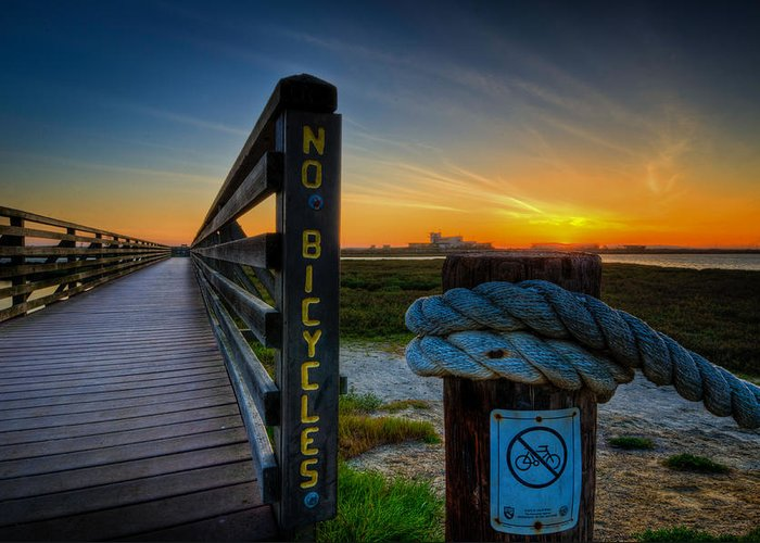 Bolsa Chica Wetlands Greeting Card featuring the photograph Good Vibrations by Brian Hayashi
