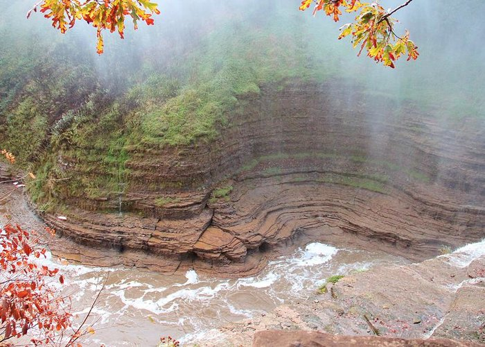 River Greeting Card featuring the photograph Gorge Wall by Laurie Tracy