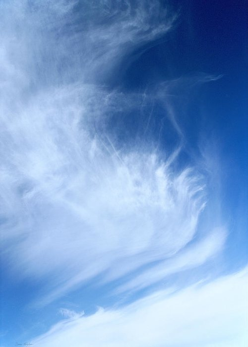 Blue Sky Greeting Card featuring the photograph Gossamer Sky by Bruce Thompson