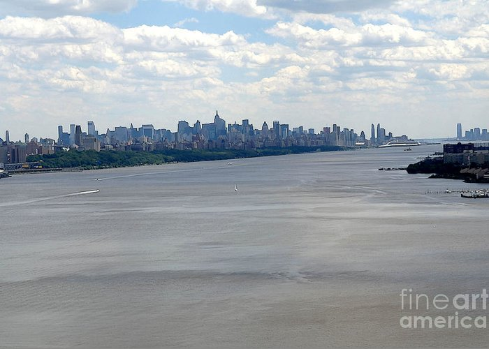 New York City Greeting Card featuring the photograph Gotham On The Hudson by David Bearden