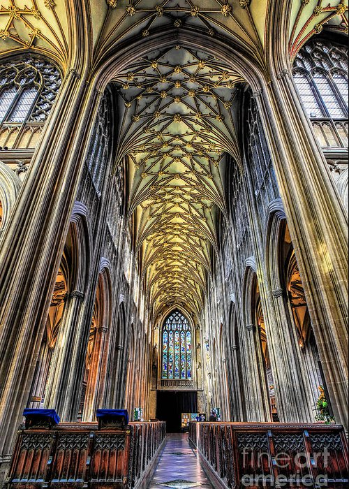 Chapel Greeting Card featuring the photograph Gothic Architecture by Adrian Evans