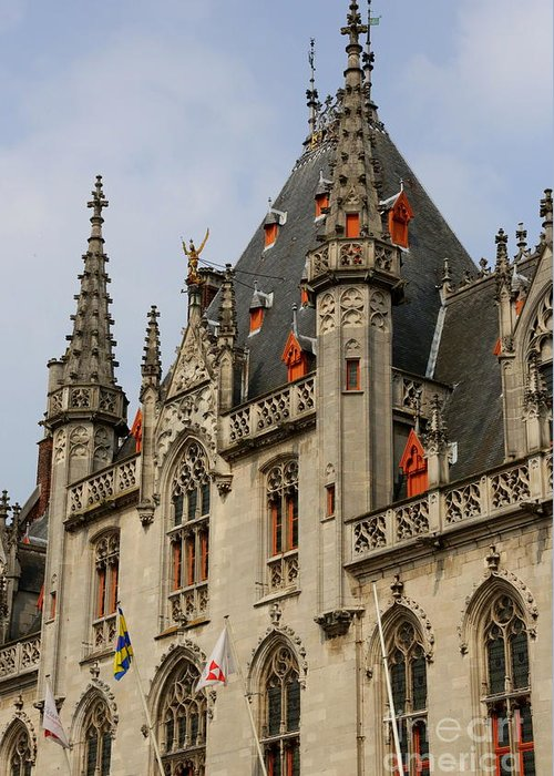 Bruges Greeting Card featuring the photograph Gothic Bruges by Carol Groenen