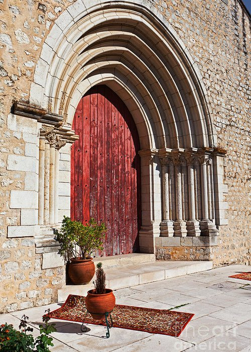 Medieval Greeting Card featuring the photograph Gothic Portal by Jose Elias - Sofia Pereira