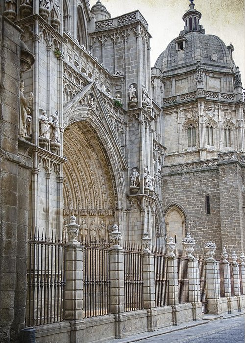 Ancient Greeting Card featuring the photograph Gothic Splendor Of Spain by Joan Carroll