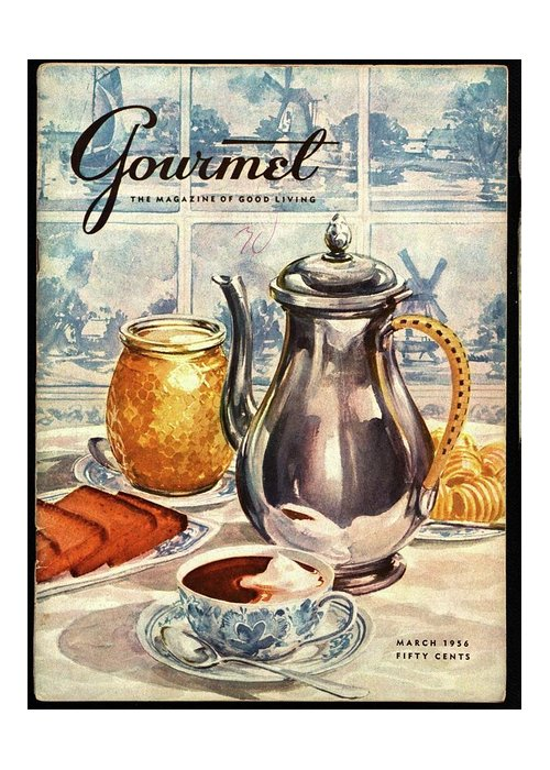 Illustration Greeting Card featuring the photograph Gourmet Cover Featuring An Illustration by Hilary Knight