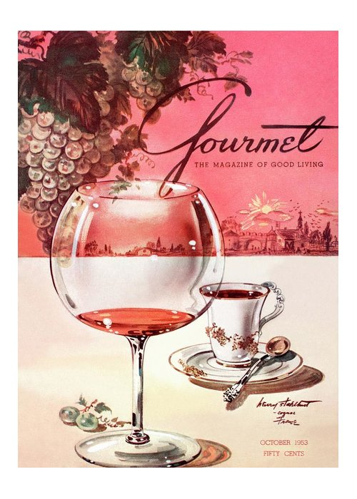 Travel Greeting Card featuring the photograph Gourmet Cover Illustration Of A Baccarat Balloon by Henry Stahlhut