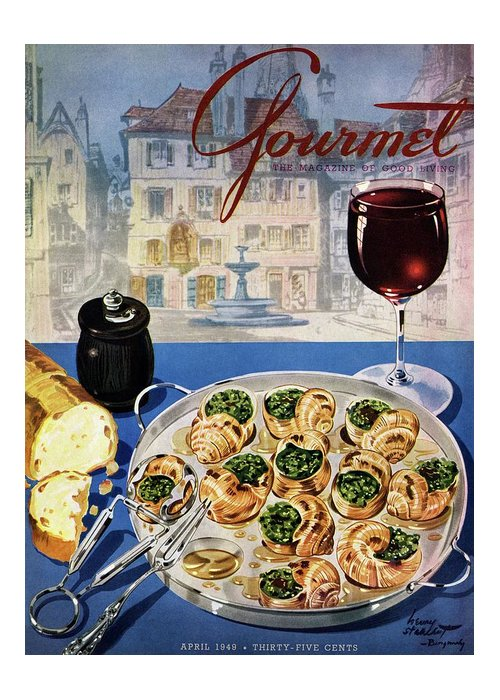 Food Greeting Card featuring the photograph Gourmet Cover Illustration Of A Platter by Henry Stahlhut