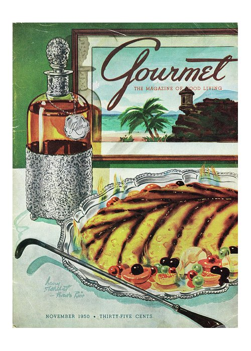 Food Greeting Card featuring the photograph Gourmet Cover Of An Omelette Au Ruhm by Henry Stahlhut