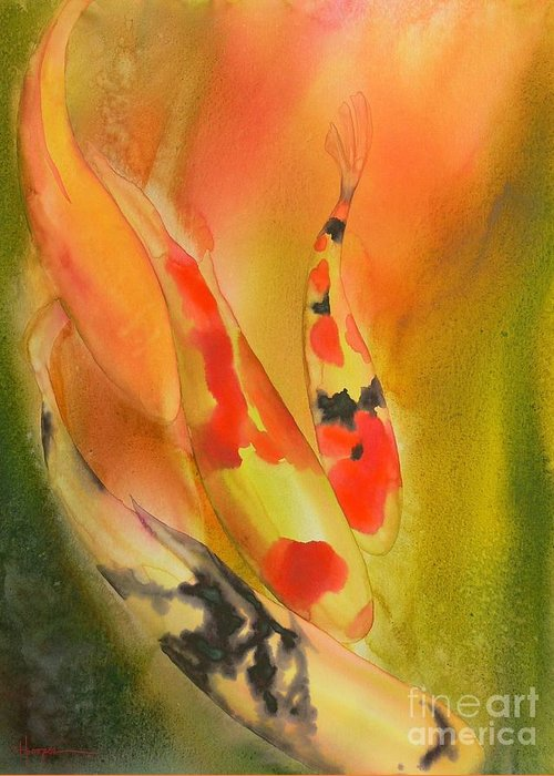 Watercolor Greeting Card featuring the painting Grace by Robert Hooper