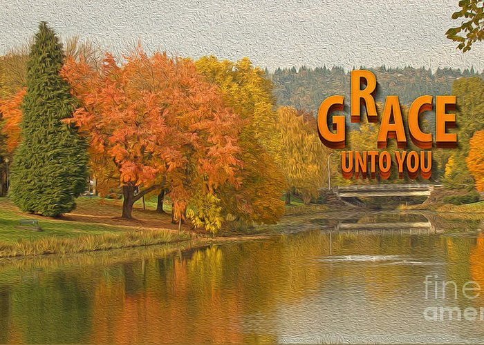 Lake Photograph Greeting Card featuring the photograph Grace Unto You by Beverly Guilliams