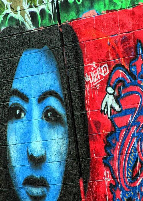 Graffiti Greeting Card featuring the photograph Graffiti 15 by Tera Bunney