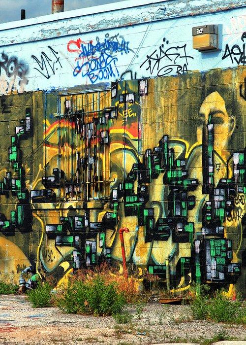 Graffiti Greeting Card featuring the photograph Graffiti 24 by Tera Bunney