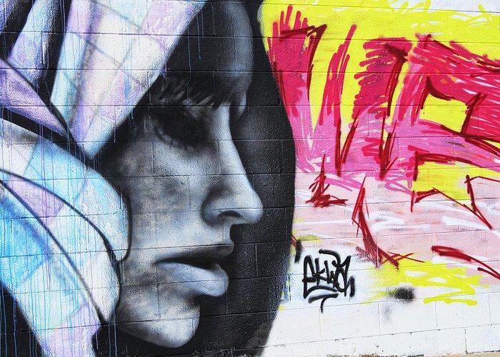 Graffiti Greeting Card featuring the photograph Graffiti 5 by Tera Bunney