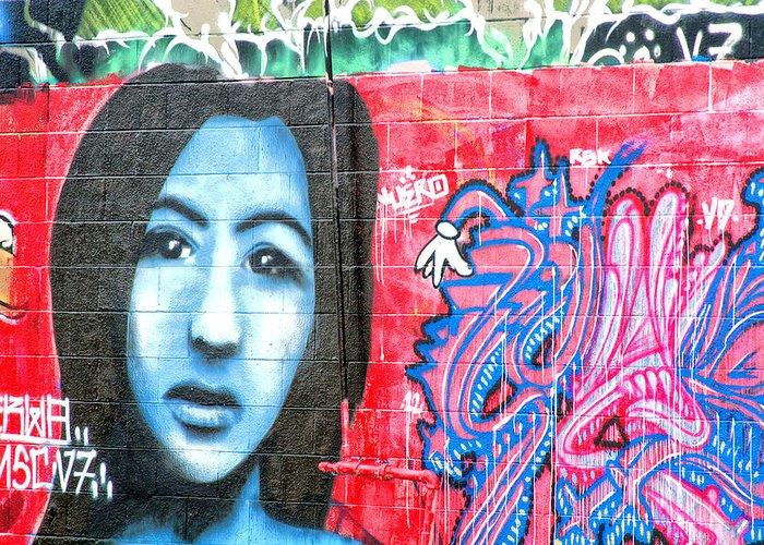 Graffiti Greeting Card featuring the photograph Graffiti 9 by Tera Bunney