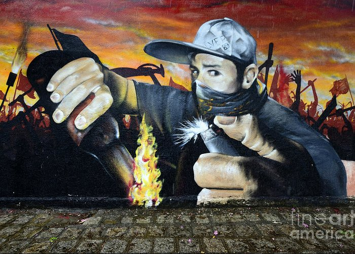 Graffiti Greeting Card featuring the photograph Graffiti Art Curitiba Brazil 10 by Bob Christopher