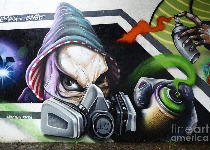 Graffiti Greeting Card featuring the photograph Graffiti Art Curitiba Brazil 18 by Bob Christopher