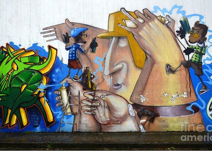Graffiti Greeting Card featuring the photograph Graffiti Art Curitiba Brazil 19 by Bob Christopher