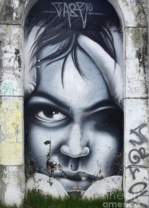Graffiti Greeting Card featuring the photograph Graffiti Art Curitiba Brazil 2 by Bob Christopher