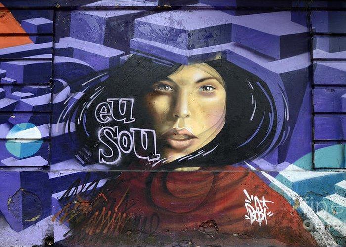 Graffiti Greeting Card featuring the photograph Graffiti Art Rio De Janeiro 3 by Bob Christopher