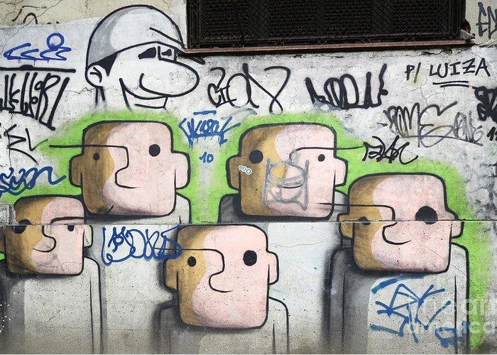 Graffiti Greeting Card featuring the photograph Graffiti Art Rio De Janeiro 5 by Bob Christopher