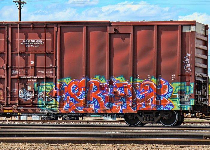 Graffiti Greeting Card featuring the photograph Graffiti - Orange Pop by Graffiti Girl