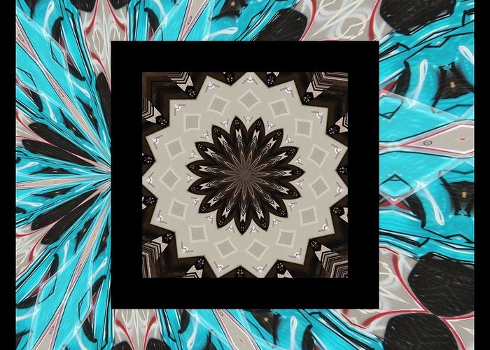 Kaleidoscope Greeting Card featuring the photograph Graffiti - Reign V by Graffiti Girl