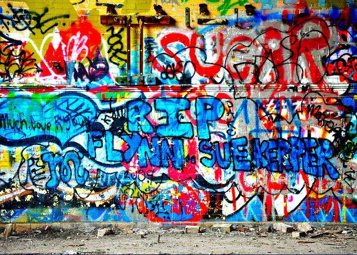 Graffiti Greeting Card featuring the photograph Graffiti Street by Bill Cannon