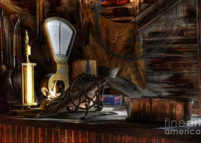 Grain Elevator Greeting Card featuring the photograph Grain Elevator by Bob Christopher