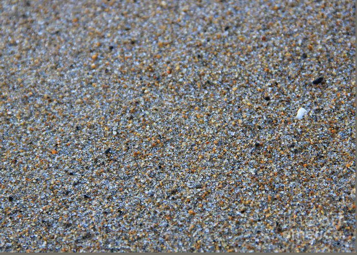 Maine Greeting Card featuring the photograph Grainy Sand by Michael Mooney
