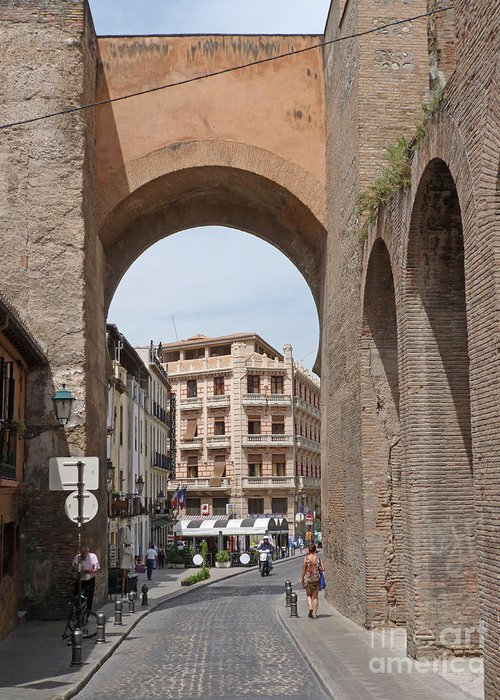 Andalucia Greeting Card featuring the photograph Granada Old City Gateway by Phil Banks