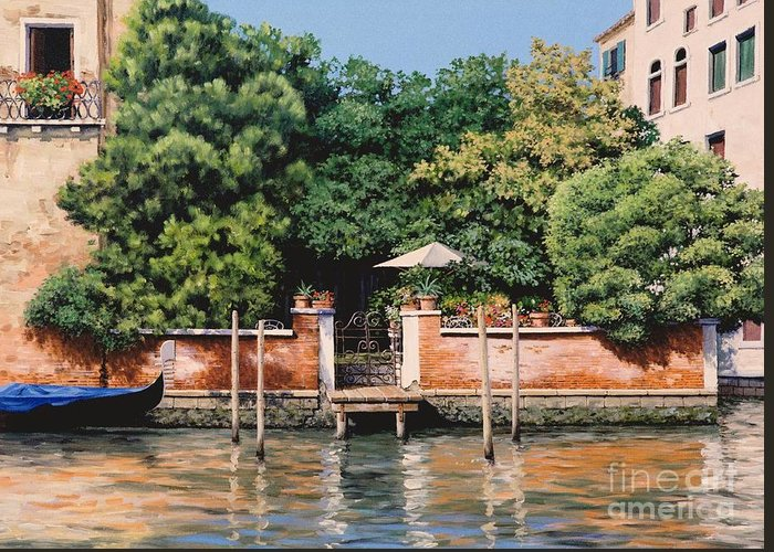 Venice Oasis Greeting Card featuring the painting Grand Canal Oasis by Michael Swanson