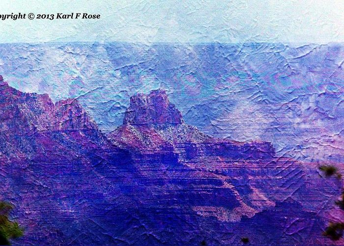 Grand Greeting Card featuring the photograph Grand Canyon As A Painting 2 by Karl Rose