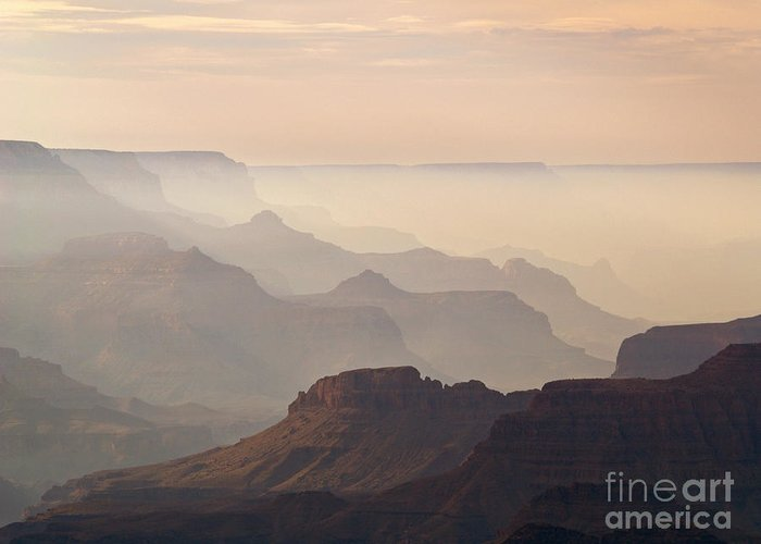 Landscape Greeting Card featuring the photograph Grand Canyon From Lipan Point by Alex Cassels