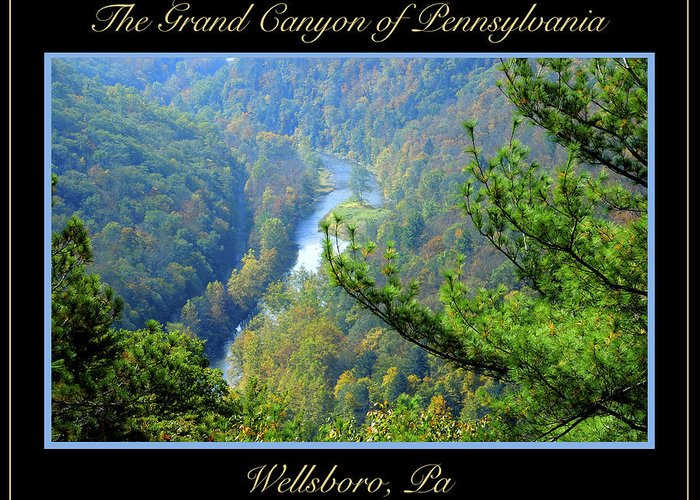 Geology Greeting Card featuring the photograph Grand Canyon Of Pennsylvania Wellsboro by A Gurmankin