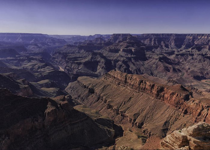 Grand Canyon Greeting Card featuring the photograph Grand Canyon Panorama by Ahmed Bahhodh