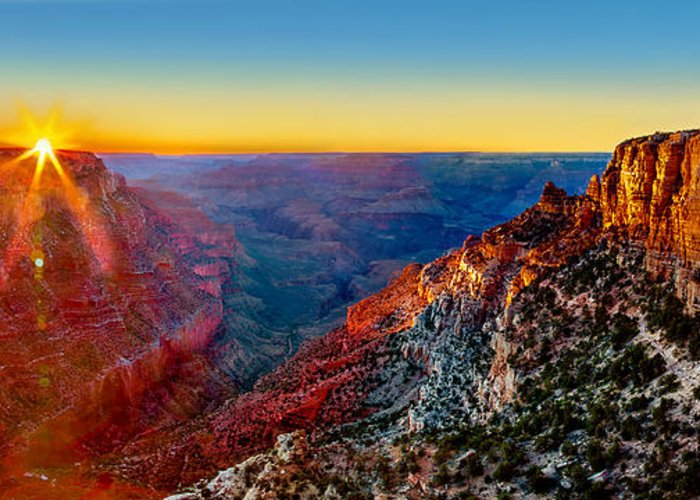 Grand Canyon Greeting Card featuring the photograph Grand Canyon Sunset by Az Jackson