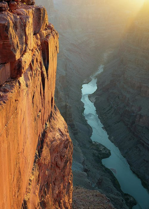 Scenics Greeting Card featuring the photograph Grand Canyon Toroweap Point Morning by Kjschoen