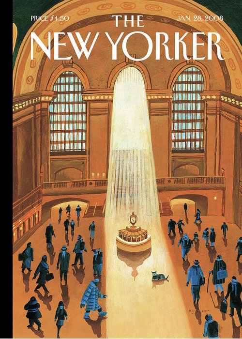 Grand Central Station Greeting Card featuring the painting Grand Central Heating by Mark Ulriksen