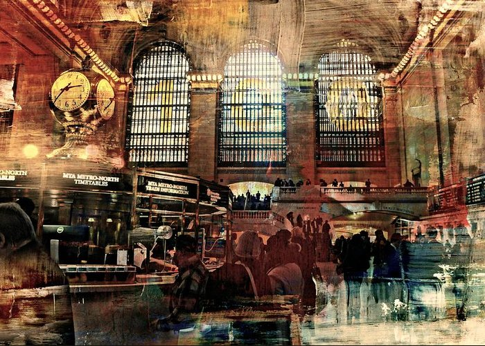 Grand Central Terminal Greeting Card featuring the photograph Grand Central Terminal 100 Years by Diana Angstadt
