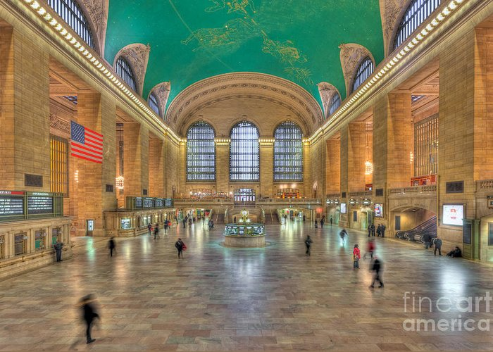 Clarence Holmes Greeting Card featuring the photograph Grand Central Terminal IIi by Clarence Holmes