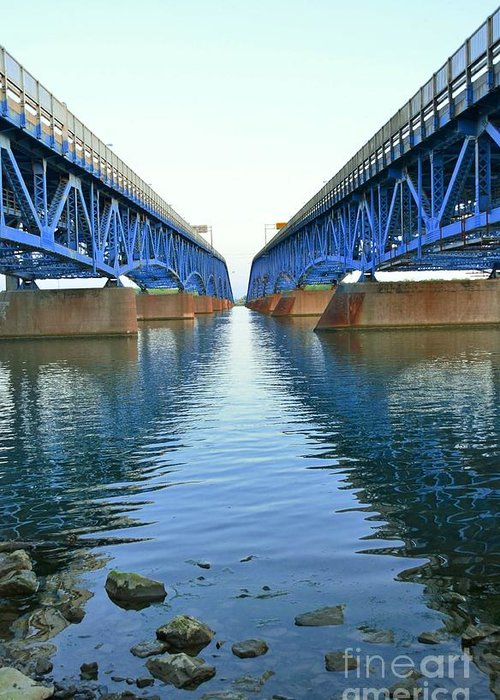Grand Greeting Card featuring the photograph Grand Island Bridges by Kathleen Struckle